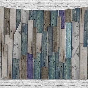 Tapestry Wood Board Planks Wall Hanging Backdrop
